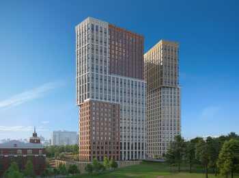 Вид на 1 очередь строительства ЖК КутузовGrad